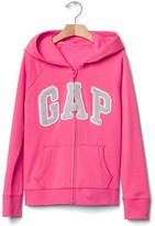 Gap Glitter logo zip hoodie