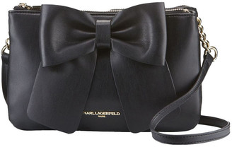 Karl Lagerfeld Paris KRIS Double Gusset Bow Crossbody