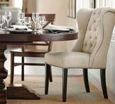 Pottery Barn Thayer Tufted Wingback Dining Chair