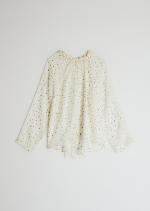 NEED Women's Long Sleeve Seren Blouse in Ivory Stars, Size Extra Small