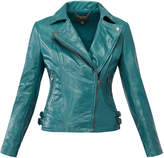 Muu Baa Muubaa Malachite 'Chello' Leather Biker Jacket