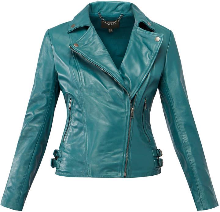 Muu Baa Muubaa Malachite 'Chello' Leather Biker Jacket
