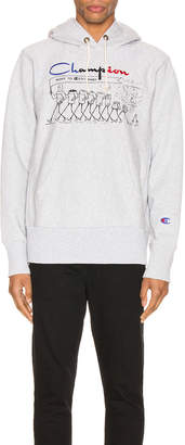 Champion Reverse Weave Centenary Hooded Sweatshirt in Oxford Gray | FWRD
