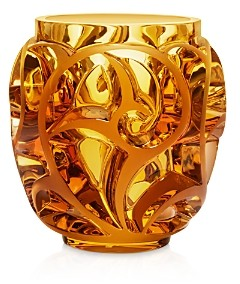 Lalique Tourbillon Amber Vase