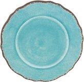 """Le Cadeaux Antiqua Turq 11"""" Round Dinner Plate"""