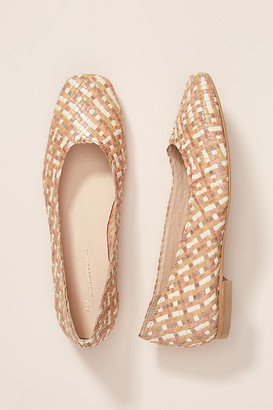 Anthropologie Beth Woven Flats By in Assorted Size 37