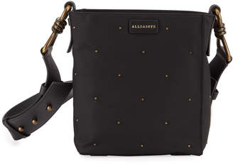 AllSaints Nilo Small Leather Crossbody Tote Bag