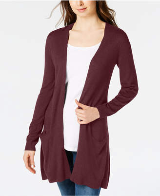 Maison Jules Long Open-Front Jersey Cardigan