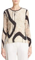 Max Mara Women's Paste Print Georgette Top