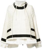 Sacai drawstring tweed jacket