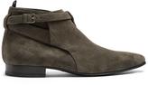 Saint Laurent London suede ankle boots