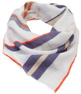 Lemlem stripe raw edge scarf