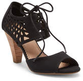 Restricted Dorsey Laser-Cut Cone Heel Sandal
