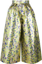 DELPOZO wide-leg floral trousers - women - Silk/Polyester - 38