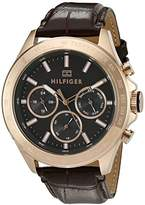 Tommy Hilfiger Men's 1791225 Hudson Analog Display Japanese Quartz Brown Watch
