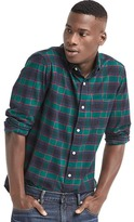 Gap Oxford plaid slim fit shirt