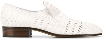 Victoria Beckham punch hole detail loafers