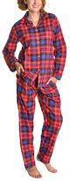 Angelina Giftable Red Plaid Flannel Pajama Set