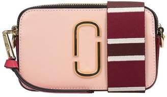 Marc Jacobs Snapshot Shoulder Bag In Rose-pink Leather