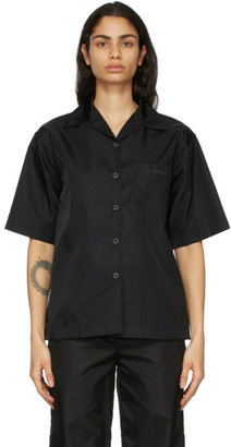 Prada Black Re-Nylon Gabardine Short Sleeve Shirt