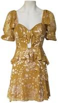 For Love & Lemons Yellow Silk Dress for Women