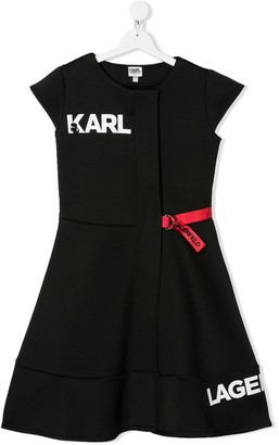 Karl Lagerfeld Paris TEEN logo print dress
