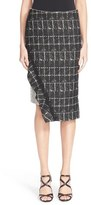 Jonathan Simkhai Asymmetrical Ruffle Pencil Skirt