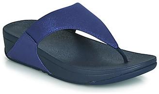 FitFlop LULU SHIMMERLUX women's Flip flops / Sandals (Shoes) in Blue