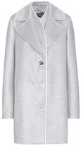 Salvatore Ferragamo Leather-trimmed cashmere coat