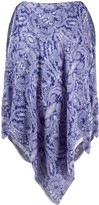 Etro paisley print poncho tunic