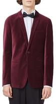 Topman Men's Skinny Fit Velvet Blazer
