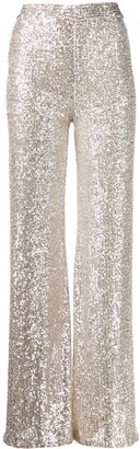 L'Autre Chose sequin high waisted trousers
