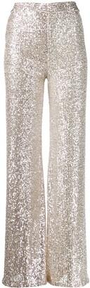 L'Autre Chose Sequin High Waisted Trousers