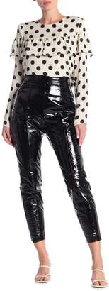 LPA Leather Back Zip Vent Pants