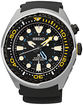 Seiko Sun021p1 Prospex Diving Silicone Strap Watch, Black