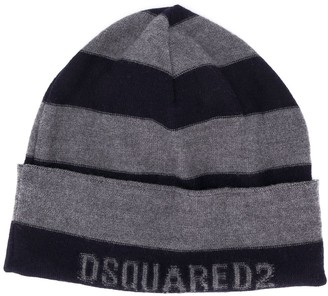 DSQUARED2 Striped-Jacquard Beanie