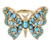 Kenneth Jay Lane BIJOUX BAR KJL by Gold-Tone Aqua Butterfly Ring