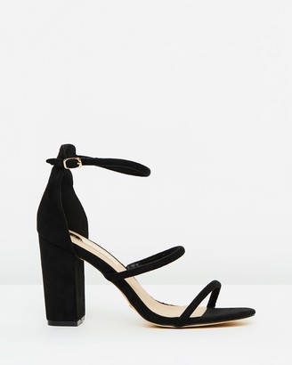 Billini - Women's Black Strappy sandals - Marlie Block Heels - Size 5 at The Iconic