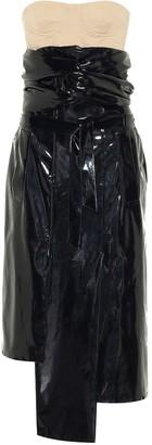 Rokh PVC bustier midi dress