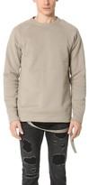Helmut Lang Plush Fleece Oversized Crew Sweatshirt