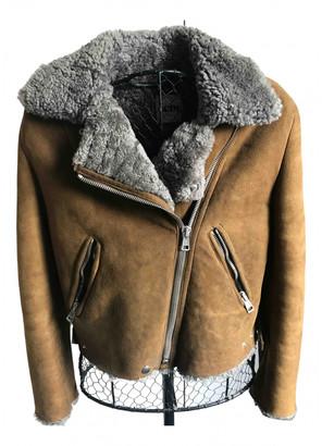 Acne Studios Camel Shearling Jackets
