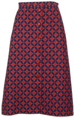 Gucci Geometric Patterned Tweed Skirt