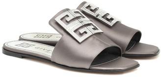 Givenchy 4G embellished satin slides