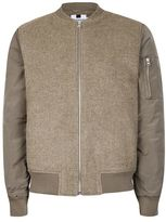 Topman Stone Bomber Jacket containing Wool