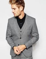Selected Homme Dogtooth Suit Jacket In Skinny Fit