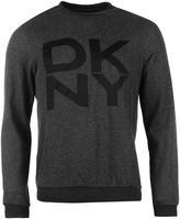 Dkny Contrast Logo Crew Sweater