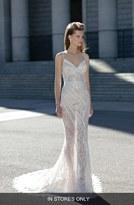 Women's Berta Beaded Sheer Lace Column Dress