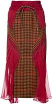 Sacai Houndstooth Panelled Skirt