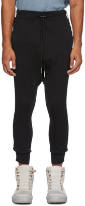 Boris Bidjan Saberi Black Object-Dyed Lounge Pants