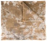 Avant Toi camouflage print scarf